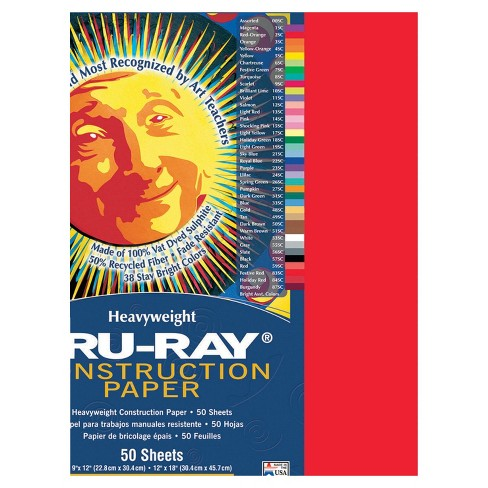 Tru-Ray Sulphite Construction Paper, 18 x 24 Inches, Festive Red, 50 Sheets - image 1 of 1