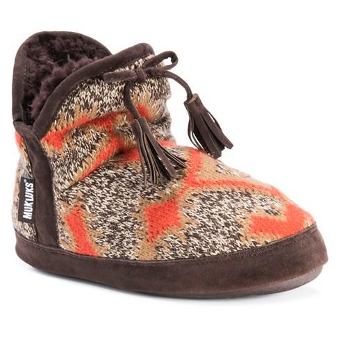 Women's MUK LUKS® Pennley Aztec Print Bootie Slippers - image 1 of 5