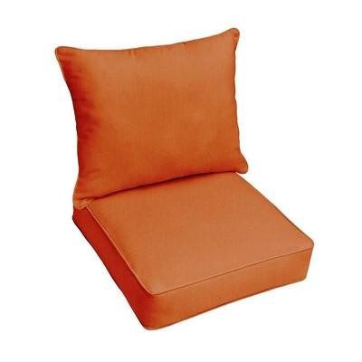 Sunbrella Outdoor Seat Cushions Rust Orange