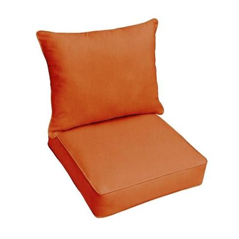 Sunbrella Outdoor Seat Cushions Rust Orange Target