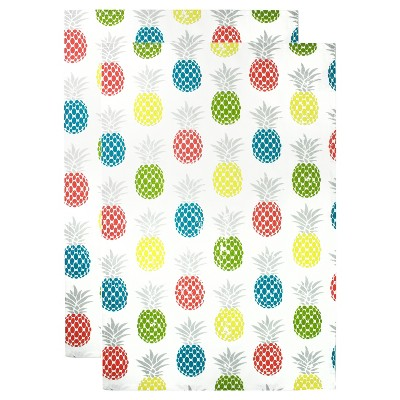 2pk Pineapple Print Kitchen Towels - MU Kitchen