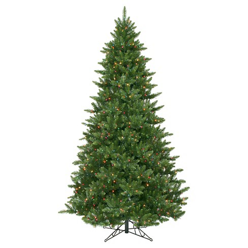 About this item - 8.5ft Pre-Lit Artificial Christmas Tree Full Fir -... : Target