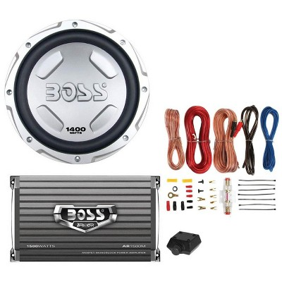 """BOSS CX122 12"""" 1400W Car Power Subwoofer Sub Woofer and Amplifier and Amp Kit"""