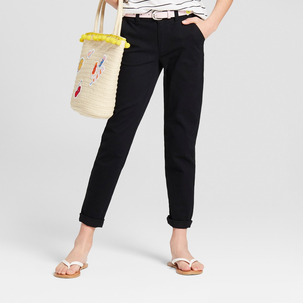 Plus Size Girls' Twill Pants - Cat & Jack Black 8 Plus