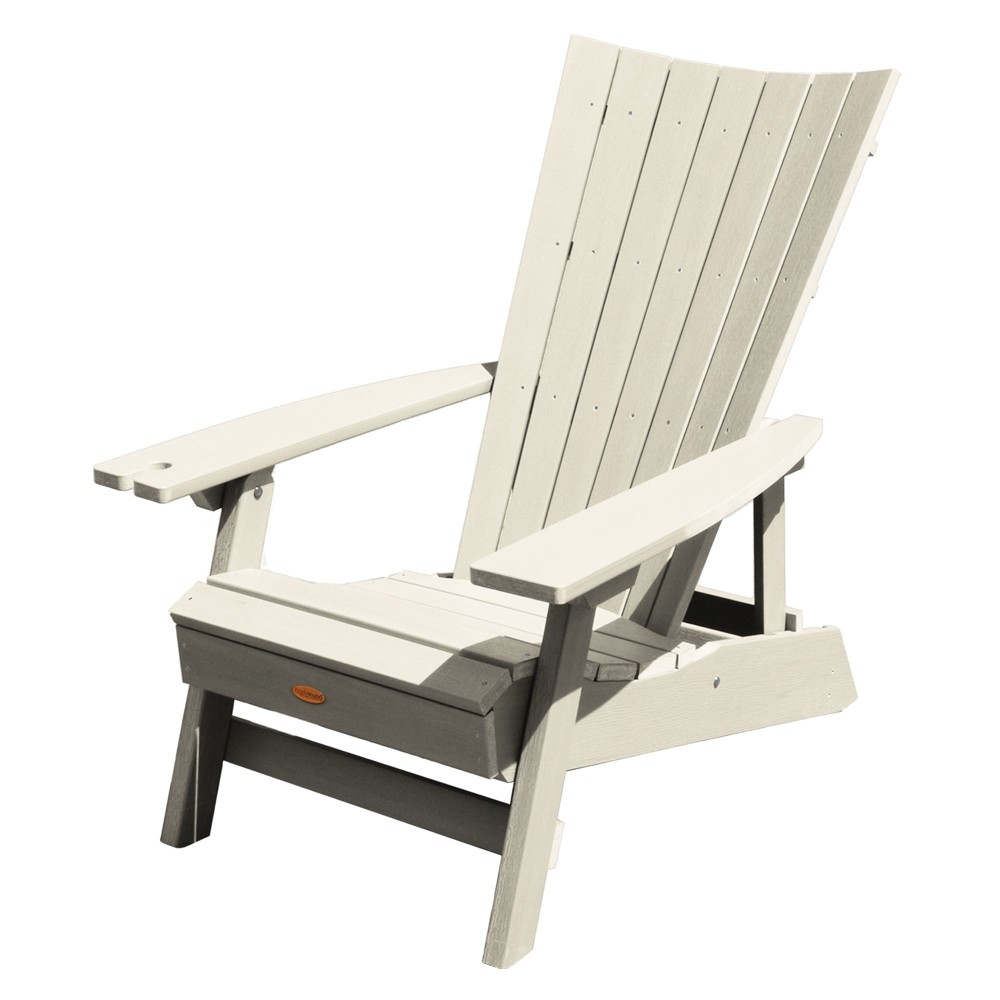 Manhattan Beach Adirondack Chair with Wine Glass Holder Whitewash - Highwood, Off White