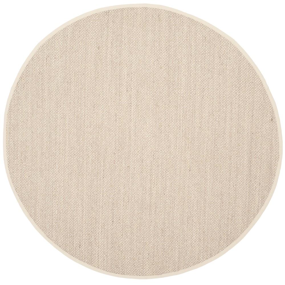 9 Solid Loomed Round Area Rug Marblebeige Safavieh