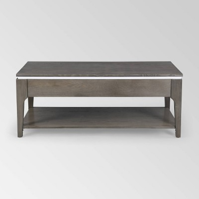 Childress Transitional Lift-Top Coffee Table Gray - Christopher Knight Home