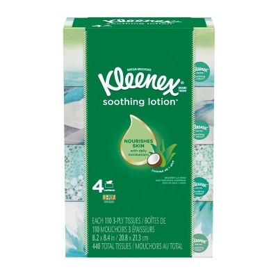 Kleenex Soothing Lotion Facial Tissue - 4pk/110ct