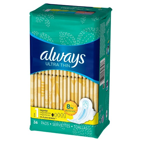 Always Ultra Thin Pads - Regular Absorbency - Size 1 - image 1 of 6