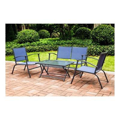 4pc Sling Patio Dining Set - Blue - Threshold™