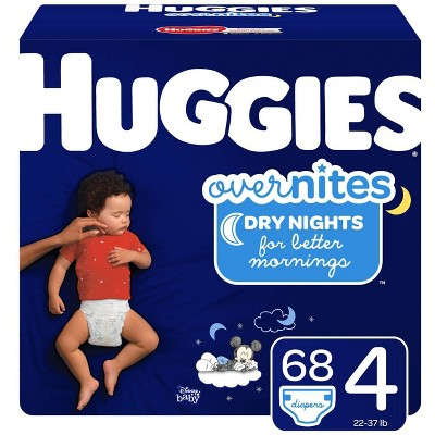 Huggies Overnites Nighttime Diapers Super Pack - Size 4 (68ct)