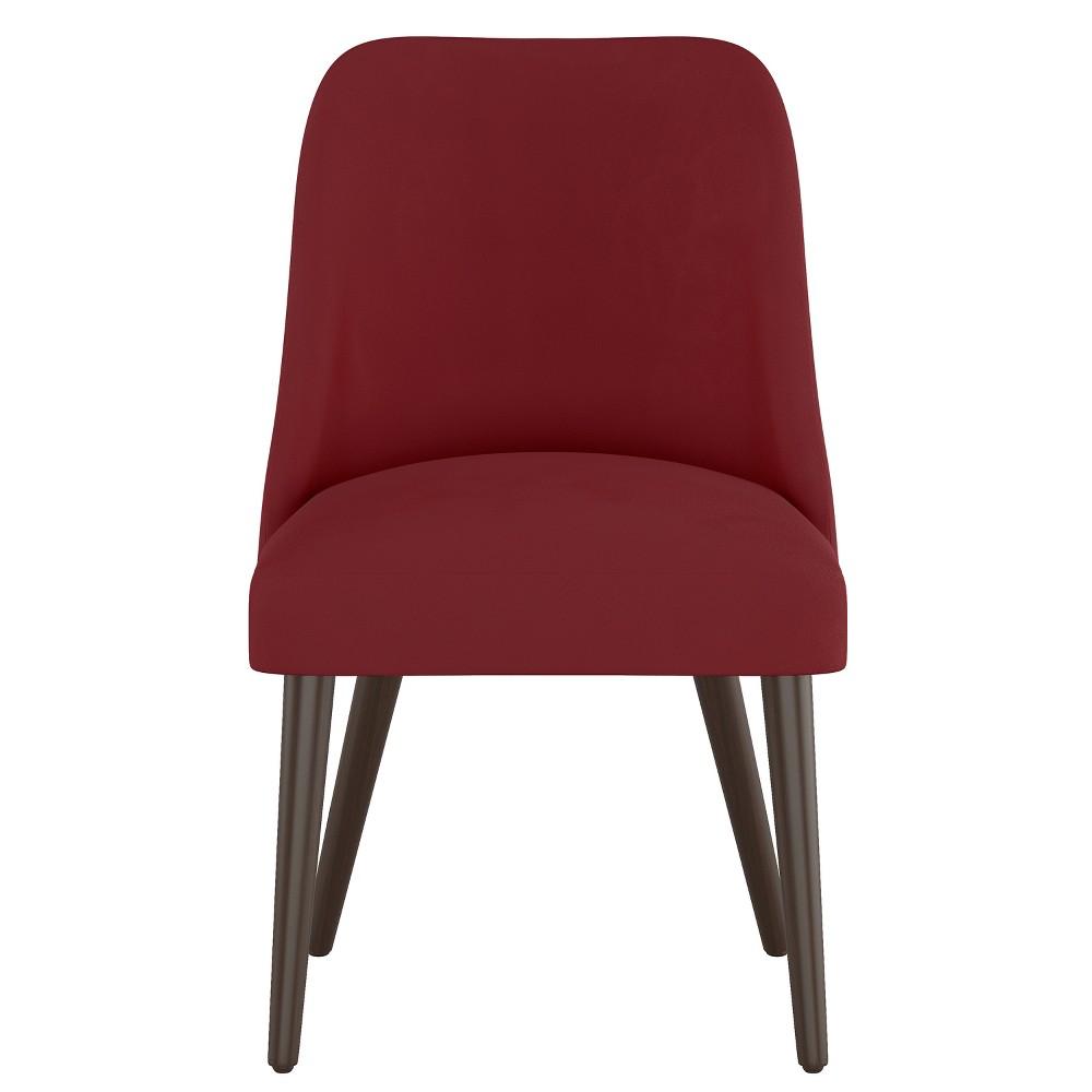 Geller Modern Dining Chair Dark Berry Velvet Project 62 8482