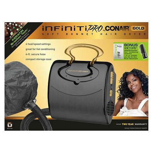 Infinitipro Gold By Conair Soft Bonnet Hair Dryer
