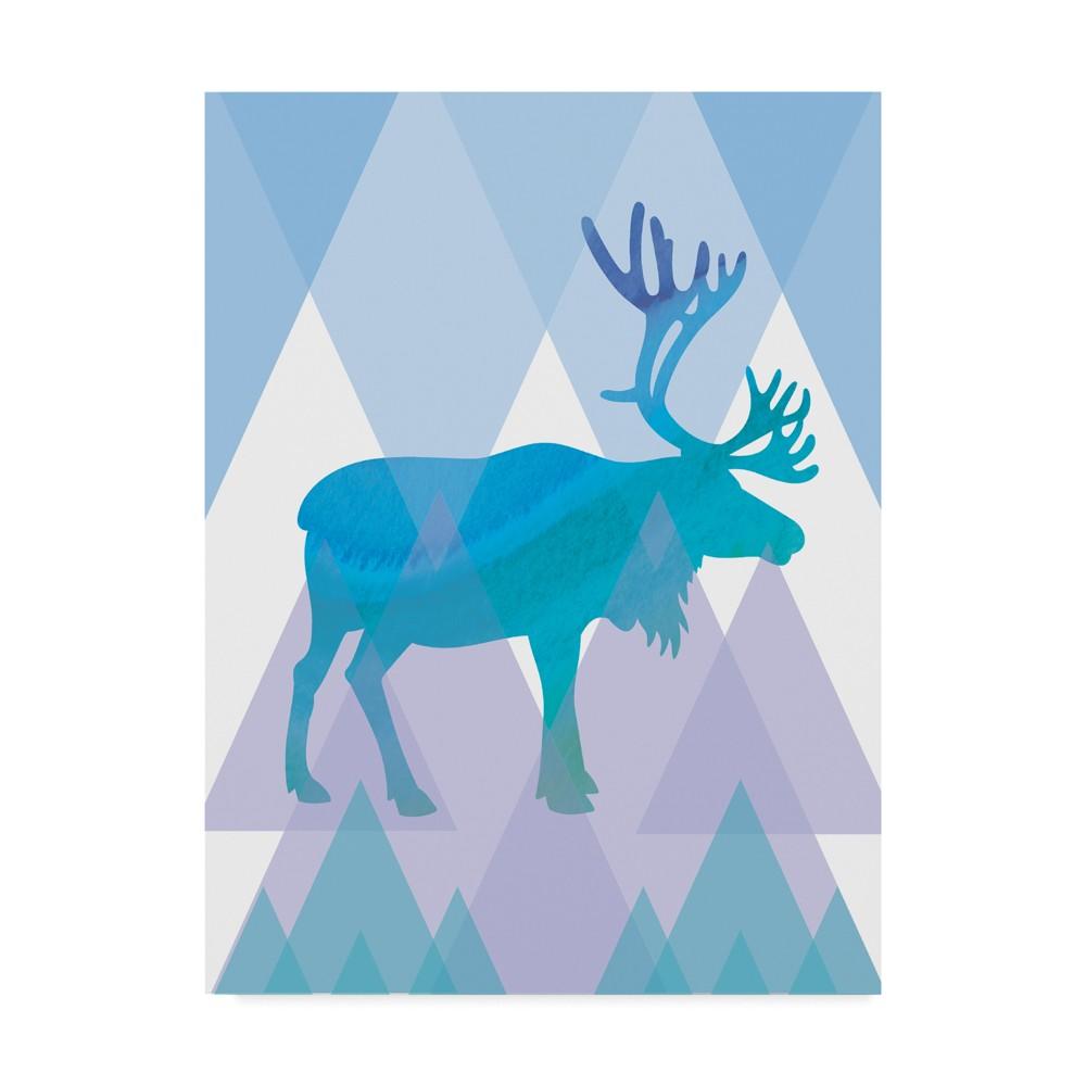 Erin Clark Geometric Reindeer Unframed Wall 18