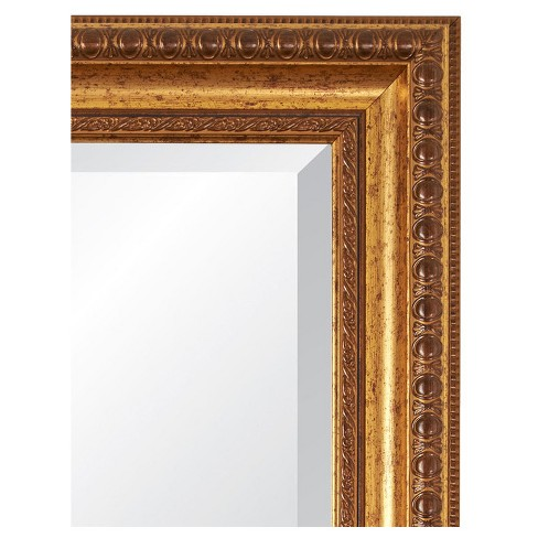 28 X 34 Lucia Vintage Gold Framed Beveled Glass Wall Mirror
