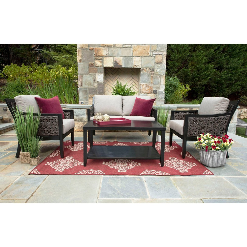 Image of Hawthorn 4pc Sunbrella Deep Seating Gray - Canopy Home and Garden