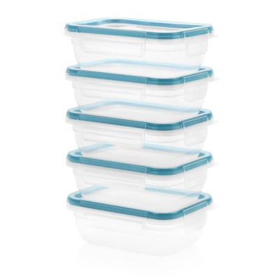 Snapware Total Solutions 3 Cup Plastic Rectangle Meal Prep Container Set - 10pc
