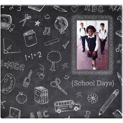 "MBI Chalkboard Post Bound Album W/Window 12""X12""-Chalk Design"