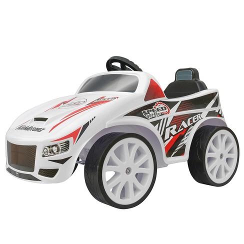 Kid Motorz 6V Speed Racer Powered Ride-On - White - image 1 of 4