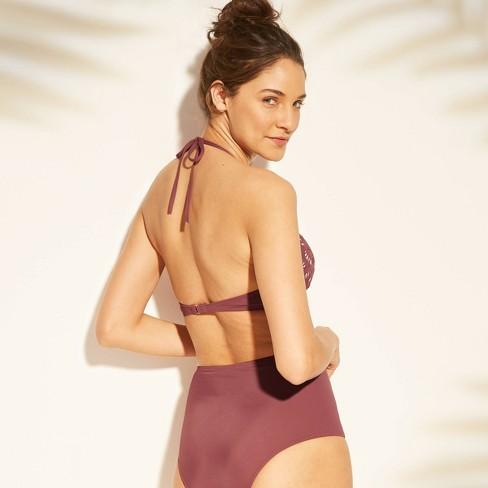 fa4d36dc1b9 Women's Tropics Light Lift Laser Cut Triangle Bikini Top - Shade & Shore™  Dusty Rose Pink : Target