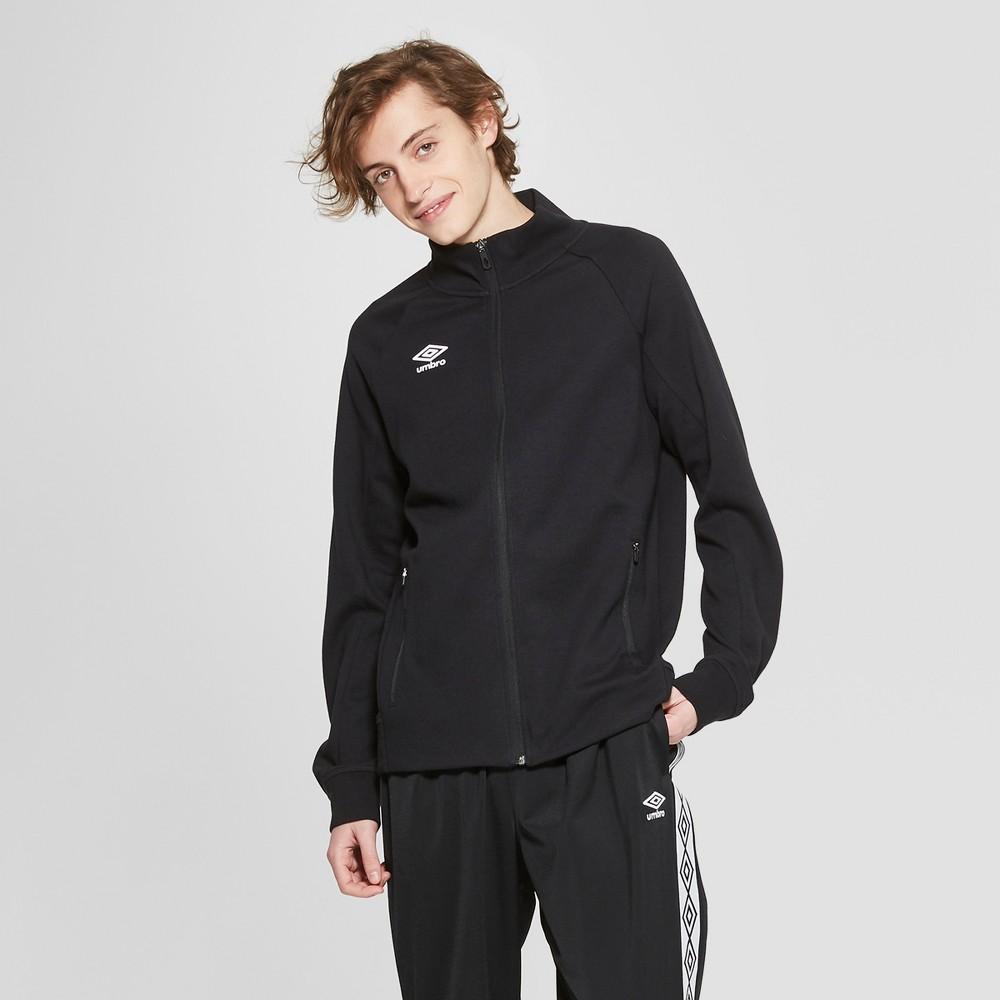 Umbro Men's Fleece Bomber Jacket - Black XL