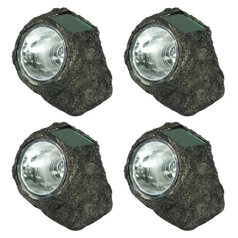 4ct Solar LED Rock Garden Light - Sunnydaze Decor - image 1 of 4