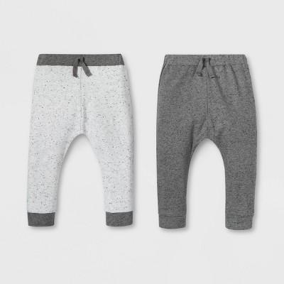 Lamaze Baby Organic 2pk Pants - Gray Newborn