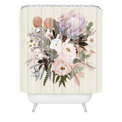 Iveta Abolina Antonia Shower Curtain Green - Deny Designs