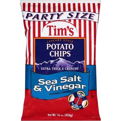 Tim's Sea Salt & Vinegar Extra Thick & Crunchy Potato Chips - 16oz