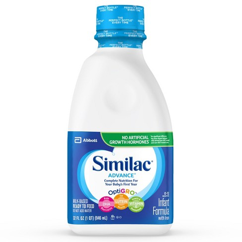 Similac Advance Infant Ready-to-Feed Formula with Iron - 1qt - image 1 of 7