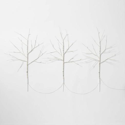 3ct Christmas Birch LED Twig Stake Holiday Arrangement Stems Lights Warm White - Wondershop™ - image 1 of 2