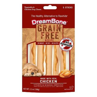 DreamBone Grain Free Sticks Dry Dog Treats - 5ct