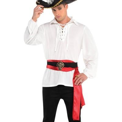 Adult Pirate Shirt Halloween Costume Cream