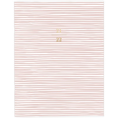 """2021-22 Academic Planner 8.5"""" x 11"""" Stapled Monthly Pink Stripe - Sugar Paper™"""