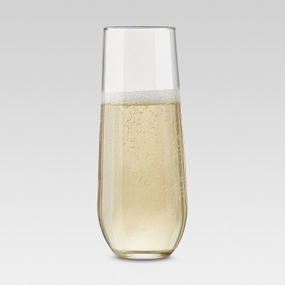 8oz 4pk Global Stemless Champagne Flutes - Threshold™