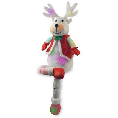 """National Tree 34"""" Battery Operated LED Lighted Color Changing Reindeer Christmas Decor"""