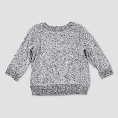 Baby Boys' Afton Street Long Sleeve Pullover Sweatshirt - Heather Gray 0-3M