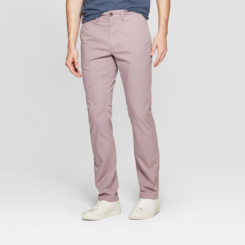 Men's 34 Chino Pants - Goodfellow & Co Rose 30x34, Red