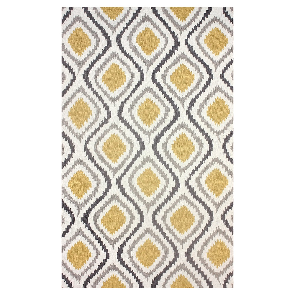 nuLOOM Polyester Hand Hooked Matthieu Area Rug - Yellow (7' 6
