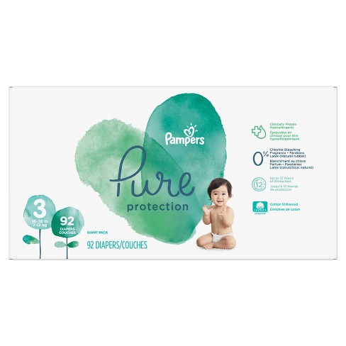 Pampers Pure Protection Disposable Diapers Giant Pack - (Select Size) - image 1 of 4