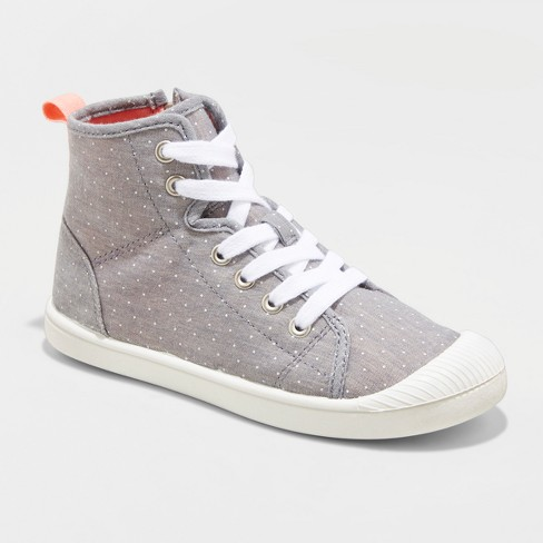 Girls' Ansley High Top Canvas Sneakers - Cat & Jack™ - image 1 of 3