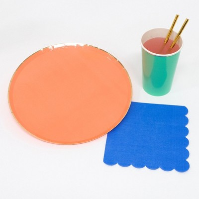Meri Meri - Party Palette Party Supplies Collection (Plate, Napkin, Cup) - Set of 8