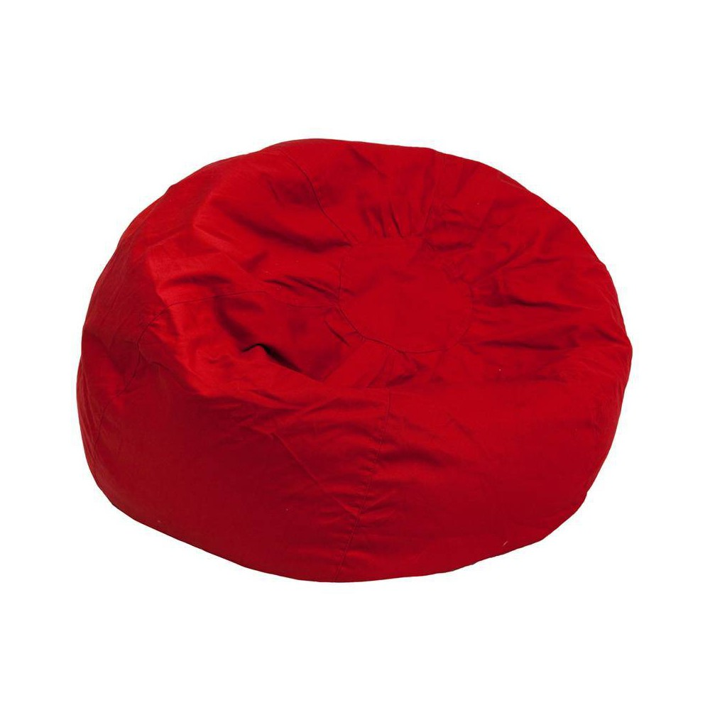Riverstone Furniture Collection Bean Bag Chair Red