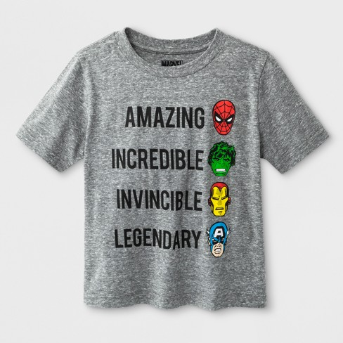 Toddler Boys' Marvels We are Heroes Avengers Short Sleeve T-Shirt - Grey - image 1 of 1