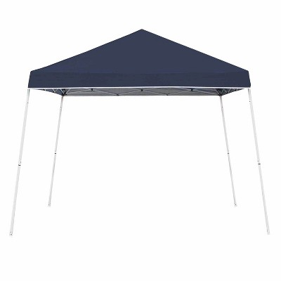 Z-Shade 10 x 10 Foot Angled Leg Instant Shade Outdoor Canopy Tent Portable Shelter with Durable Steel Frame and Carrying Bag, Navy