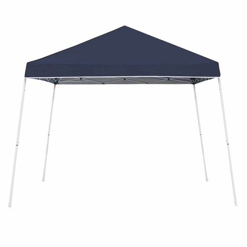 Z-Shade 10 x 10 Foot Angled Leg Instant Shade Outdoor Canopy Tent Portable Shelter with Durable Steel Frame and Carrying Bag, Navy - image 1 of 4
