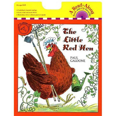 The Little Red Hen Book & CD - (Paul Galdone Classics) by  Paul Galdone (Mixed Media Product)