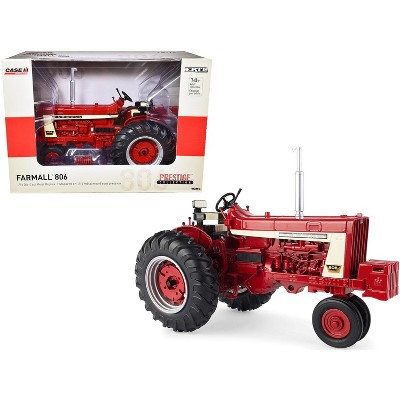 """Farmall 806 Tractor with Clamshell Fenders Red """"Prestige Collection"""" 1/16 Diecast Model by ERTL TOMY"""