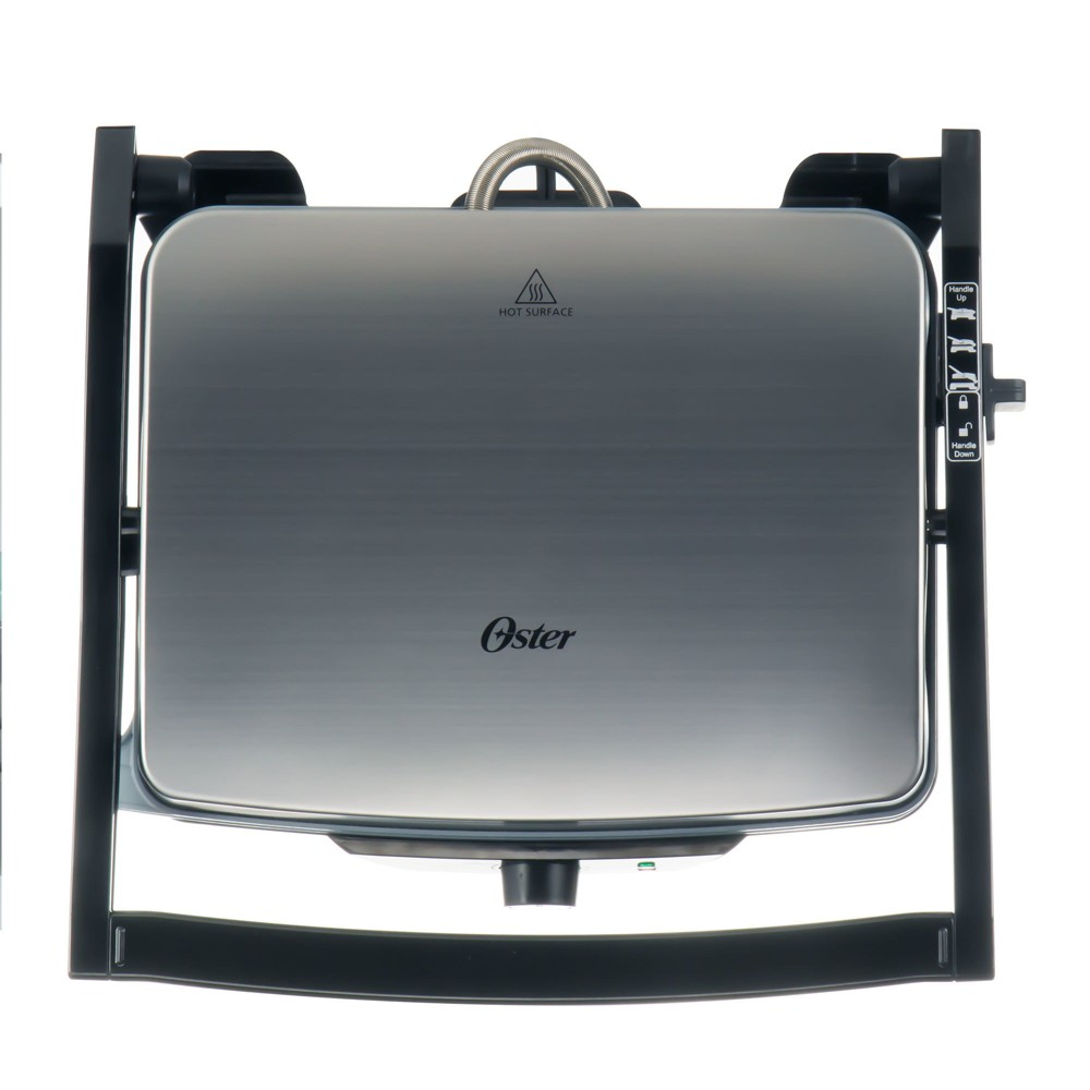 Oster 3-in-1 Panini Maker and Indoor Grill CKSTPM40-Teco, Silver