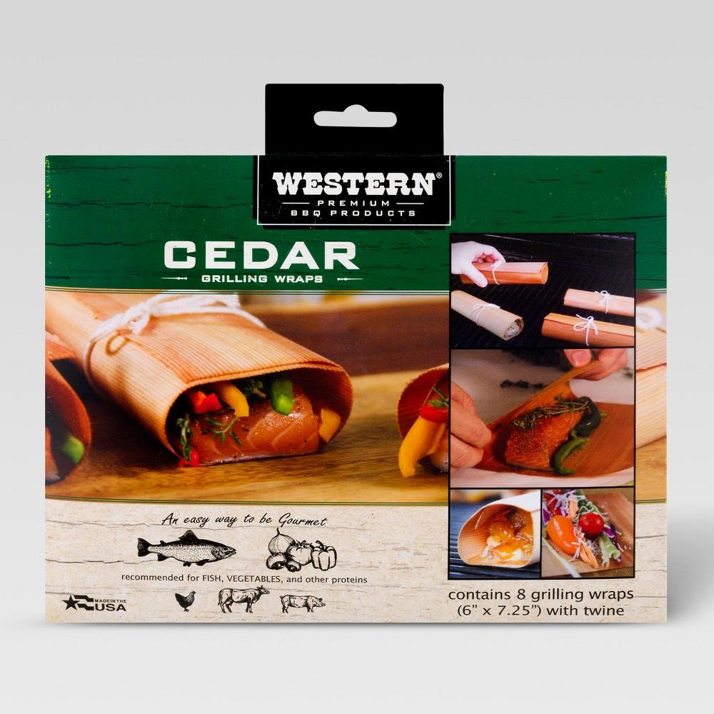 Image of Western 8pk Cedar BBQ Grilling Wraps